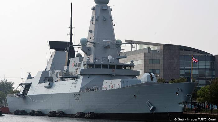 Britische Marine Zerstörer HMS Duncan vom Typ 45 (Getty Images/AFP/C. Court)
