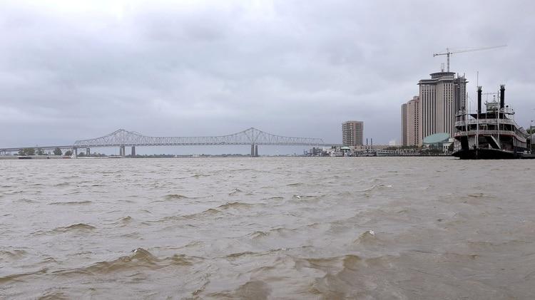 Así se encuentra el río Mississippi ante la llegada de Barry(REUTERS/Jonathan Bachman)