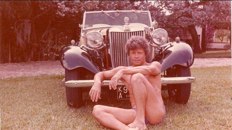 Tito Lombana de vacaciones en Veracruz, un año antes de su captura por narcotráfico.
