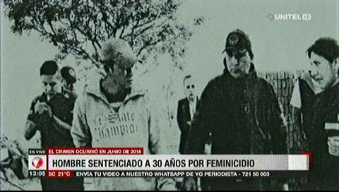 Sentencian a 30 años de cárcel a feminicida en Santa Cruz