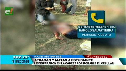 Asesinan a un joven por robarle el celular