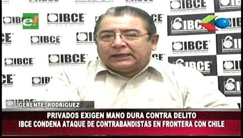 IBCE condena ataque en frontera con Chile y pide mano dura contra contrabandistas