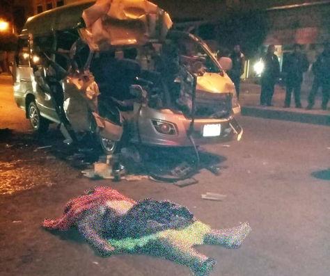 El hecho de tránsito ocurrido en la avenida Juan Pablo II de El Alto.