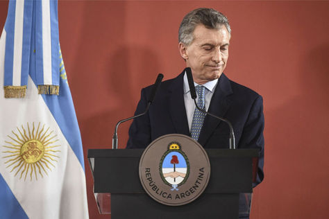 El presidente Mauricio Macri durante una conferencia de prensa. Foto: Archivo-AFP