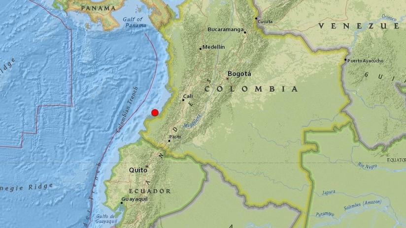 Se registra un sismo de magnitud 5,3 frente a las costas de Colombia