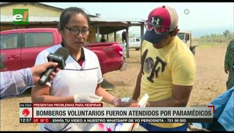 Bomberos voluntarios fueron atendidos por paramédicos en Yororoba