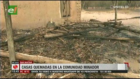El fuego dejó sin nada a cuatro familias en la comunidad Minador, San Matías