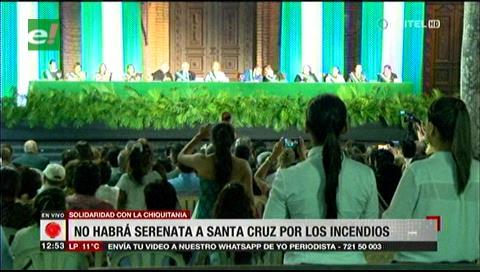 Santa Cruz. Se suspenden los festejos municipales por los incendios en la Chiquitania
