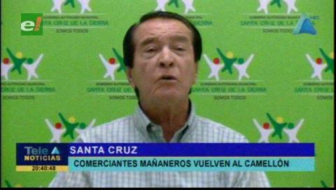 Alcaldía cruceña pedirá ayuda policial para sacar a «los mañaneros»