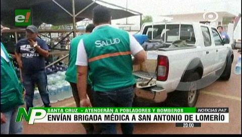 Brigada médica parte con medicamentos a San Antonio de Lomerío