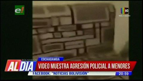"""Cochabamba: Policía """"chicotea"""" a menores y comandante dice que investigarán"""