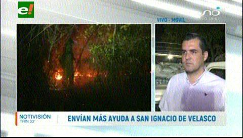 Parte ayuda humanitaria a San Ignacio de Velasco