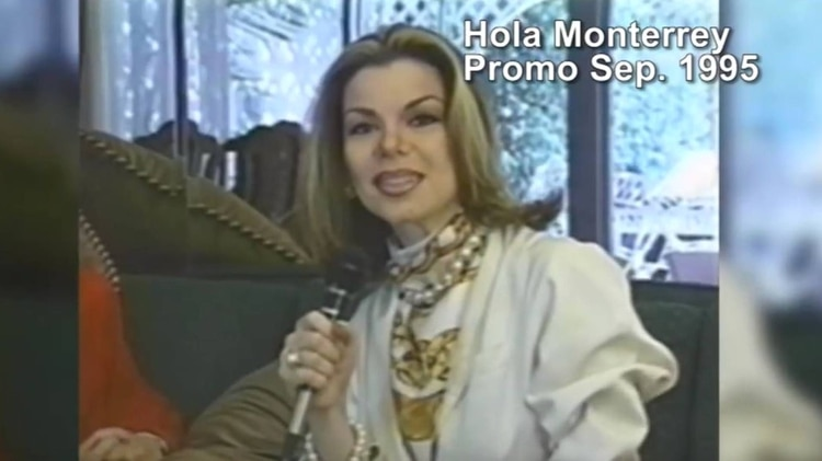 Lizzie en sus inicios como presentadora en los años 90, en Nuevo León (Foto: Especial)