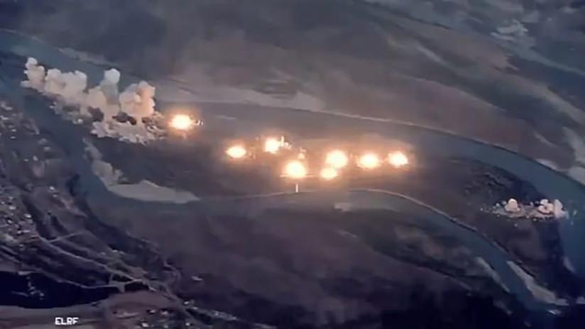 VIDEO: Aviones de EE.UU. lanzan 36 toneladas de bombas contra una isla iraquí