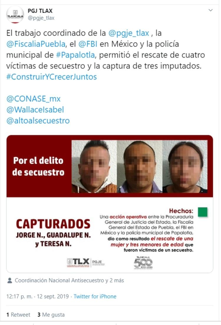 En redes sociales se informó de lo ocurrido (Foto: Captura de pantalla de Twitter)