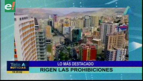 Video titulares de noticias de TV – Bolivia, noche del miércoles 16 de octubre de 2019