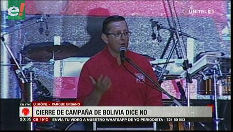 Bolivia Dice No cerró campaña electoral en Santa Cruz