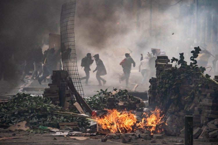 Las violentas manifestaciones de este sábado en Quito (Franco Fafasuli)