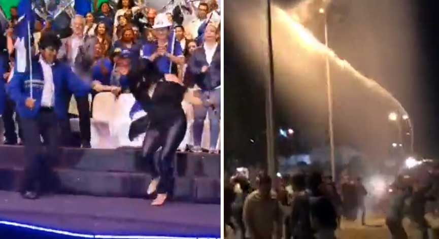 Santa Cruz: Evo bailaba, mientras Policía arremetía contra activistas en cierre de campaña