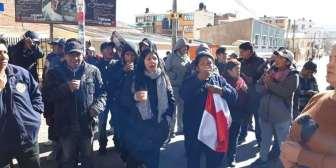 Potosí amanece con protestas tras denuncia de fraude electoral