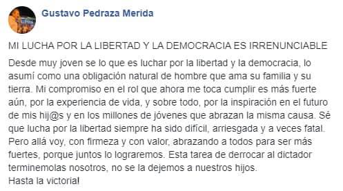 Pedraza: «Esta tarea de derrocar al dictador no se la dejemos a nuestros hijos» - eju.tv