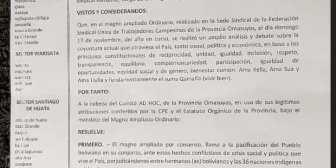 Ponchos Rojos de la Provincia #Omasuyos retiran el apoyo a Evo. Rechazan ser partici… – Ponchos Rojos de la Provincia #Omasuyos…