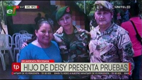Hijo de Deisy Choque asegura que el uniforme camuflado secuestrado es suyo
