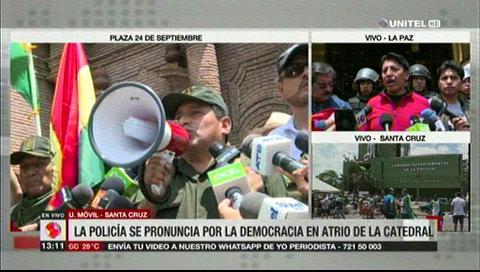 Población cruceña aprueba demandas de la Policía