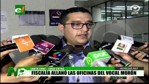 Fiscalía allanó las oficinas del vocal Victoriano Morón - eju.tv