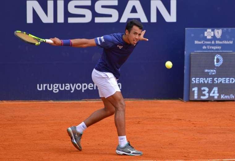 Dellien comenzó ayer con buen pie el torneo de Montevideo. Foto Uruguay Open