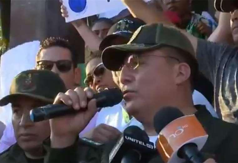 Miguel Mercado habló en la puerta del Comando (Foto: captura)