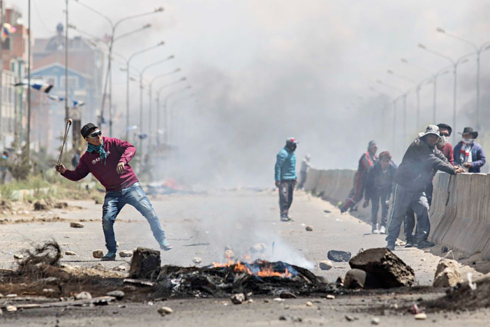 TENSIÓN. Las violentas protestas en Senkata