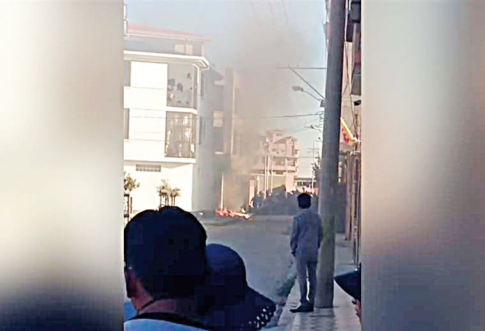 La quema de la casa de Soledad Chapetón.