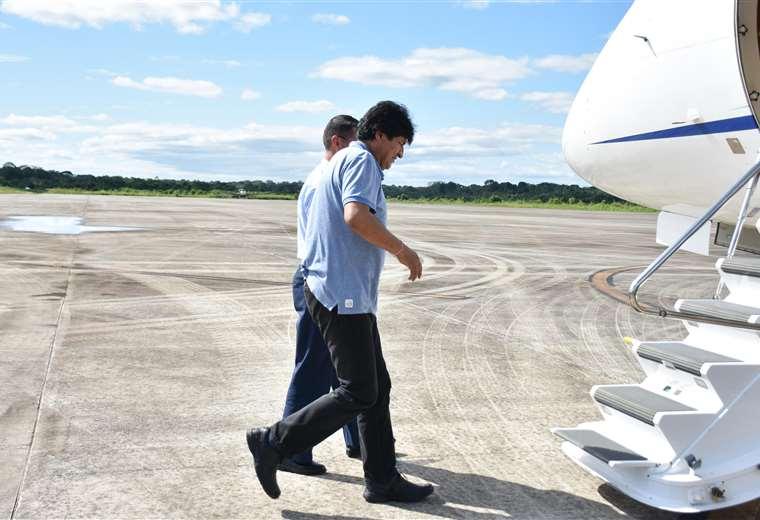 Sorpresivamente, Evo Morales llegó a Argentina proveniente de Cuba