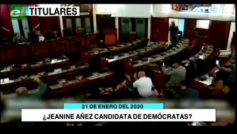 Video titulares de noticias de TV – Bolivia, noche del martes 21 de enero de 2020