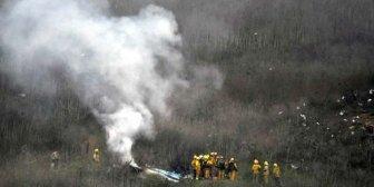 Las fotos del accidente de Kobe Bryant dan la vuelta al mundo