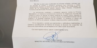 #Bolivia por fin rompe con la gerontocrática, cuasi-nonagenaria, dictadura Castrista. Las …