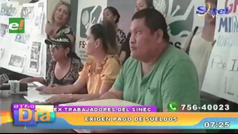 Extrabajadores del Sinec exigen que los reincorporen