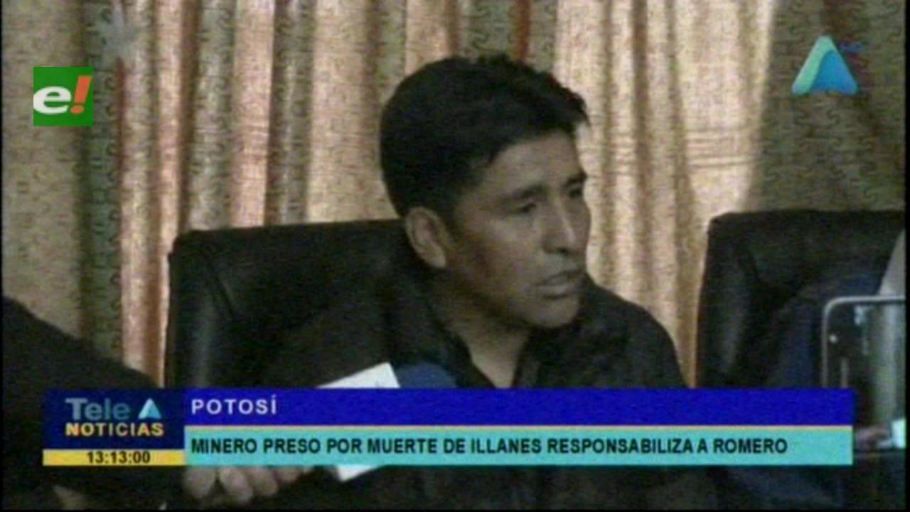 Minero preso por la muerte de Illanes culpa al exministro Romero