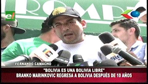 Camacho sobre Marinkovic: Fuimos a traer a un amigo, no a un candidato