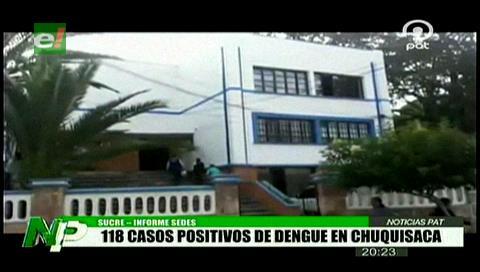 Chuquisaca registra 118 casos positivos de dengue