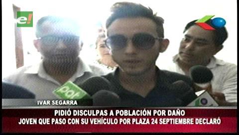 Apareció el joven que cruzó la plaza 24 de Septiembre con su vehículo