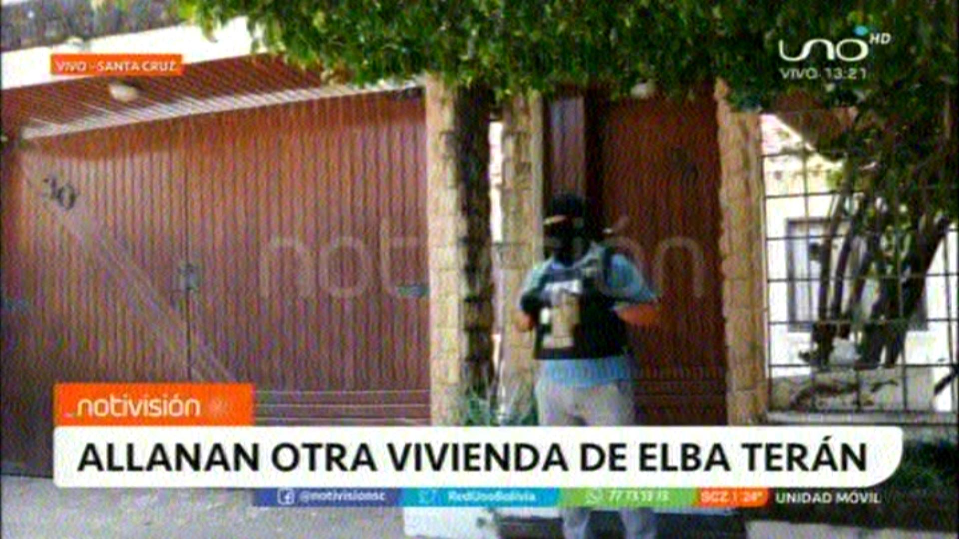 Inteligencia allana la quinta casa de Elba Terán
