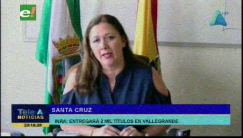 INRA entregará dos mil títulos de propiedad en Vallegrande