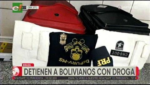 Dos bolivianos fueron detenidos en Brasil con droga en sus maletas