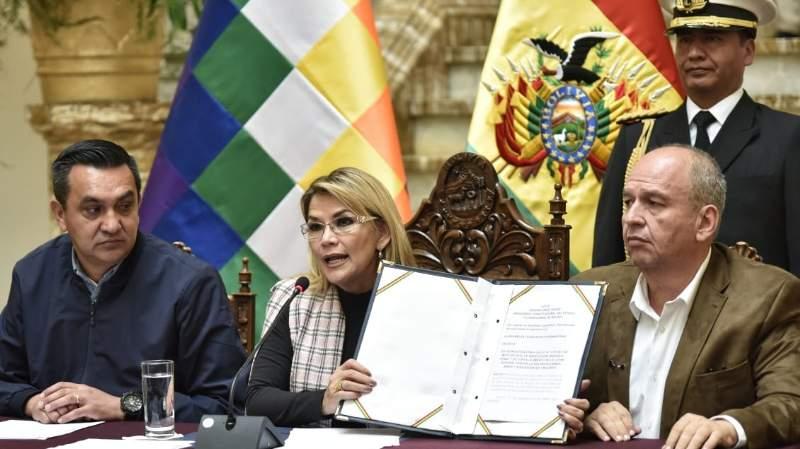Añez pide la modificación de la Ley 1173 para que no beneficie a feminicidas