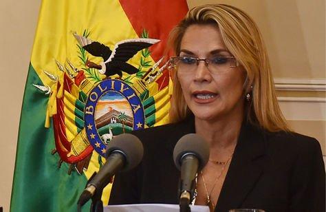 La presidenta Jeanine Áñez en una fotografía de archivo de La Razón.