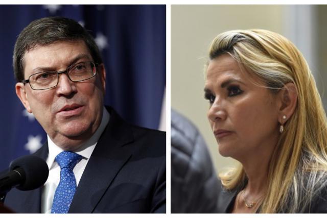 """Canciller cubano considera """"vulgares mentiras"""" las denuncias sobre millonario pago por salud y tilda a Áñez de """"golpista autoproclamada"""""""