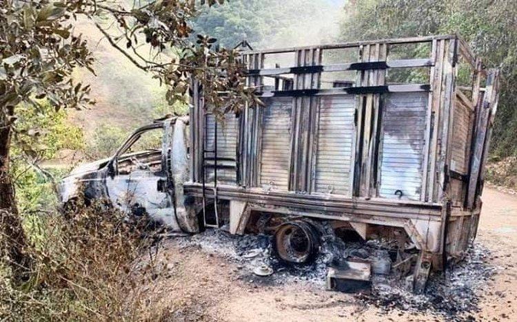 En el asesinato de 10 músicos indígenas de Chilapa se intentó simular un accidente (Foto: Twitter/franciscodgomex)