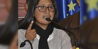 Eva Copa: 'Todos tienen derecho a elegir y ser elegidos'